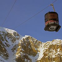 The Lone Peak Tram at Montana's Big Sky resort serves some of the steepest, most difficult and least crowded slopes in North America.