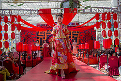 August 26, 2017 - Jili, Jili, China - Jilin, CHINA-26th August 2017: (EDITORIAL USE ONLY. CHINA OUT) A wedding dress show is held to mark the Chinese Valentine's Day in Jilin, northeast China, featuring traditional Chinese and modern wedding dresses. (Credit Image: © SIPA Asia via ZUMA Wire)