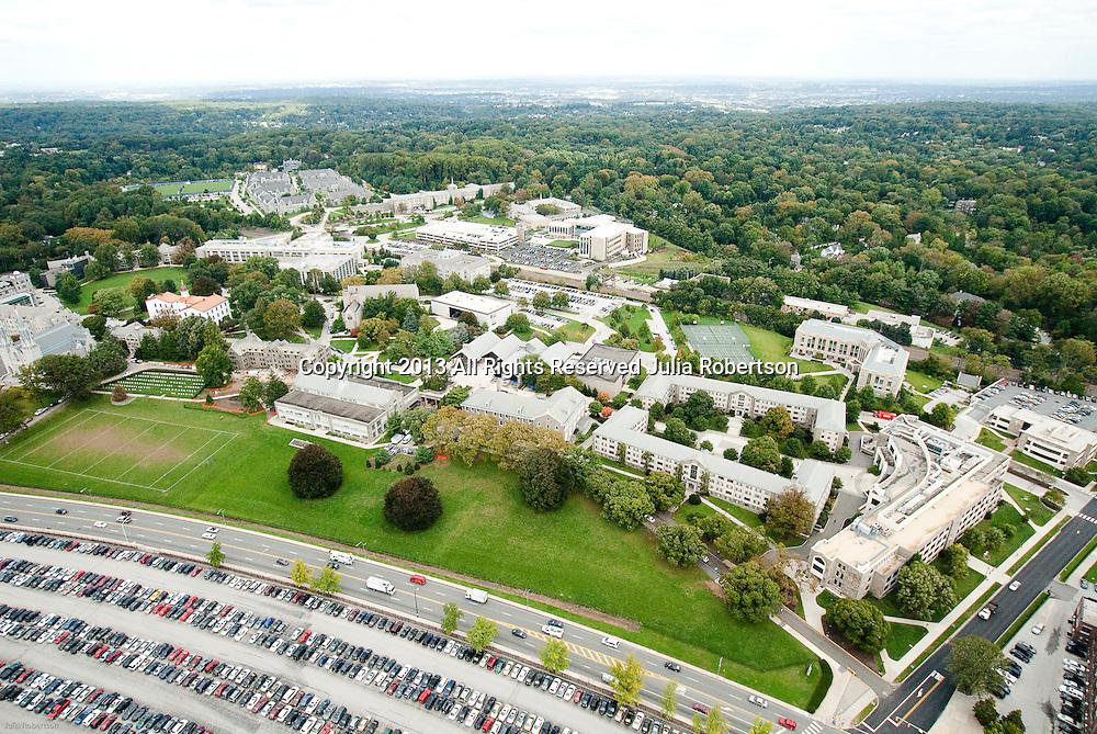 Aerial view of Villanova University