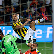 Fenerbahce's Diego Ribas (C) during their Turkish Super League soccer match Istanbul Basaksehir between Fenerbahce at the Basaksehir Fatih Terim Arena at Basaksehir in Istanbul Turkey on Monday, 25 May 2015. Photo by Aykut AKICI/TURKPIX