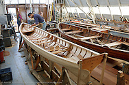 """Jeremy Fisher-Smith building a 19 foot """"Viking"""" boat for the Dolphin Club of San Francisco"""