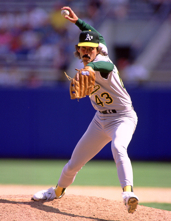 MILWAUKEE - 1992:  Dennis Eckersley of the Oakland Athletics pitches during an MLB game against the Milwaukee Brewers at County Stadium in Milwaukee, Wisconsin during the 1992 season. (Photo by Ron Vesely)   Subject: Dennis Eckersley