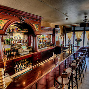 Interior of Boozefish Wine Bar, Westport Road, Kansas City, Missouri.