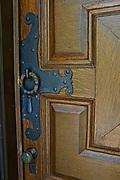 Main door oak and iron work, Grey Towers, home of environmentalist Gifford Pinchot,  Milford, PA