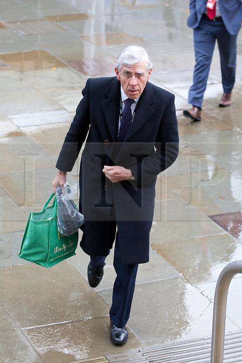 © Licensed to London News Pictures. 02/10/2012. Manchester, UK . Jack Straw arrives at the conference venue . Labour Party Conference Day 3 at Manchester Central . Photo credit : Joel Goodman/LNP