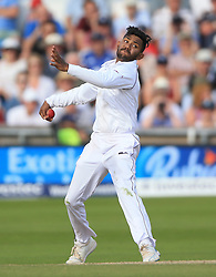 West Indies Devendra Bishoo during day four of the the second Investec Test match at Headingley, Leeds. PRESS ASSOCIATION Photo. Picture date: Monday August 28, 2017. See PA story CRICKET England. Photo credit should read: Nigel French/PA Wire. RESTRICTIONS: Editorial use only. No commercial use without prior written consent of the ECB. Still image use only. No moving images to emulate broadcast. No removing or obscuring of sponsor logos.