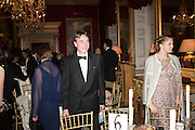 LORD CHOLMONDELEY, Professor Mikhail Piotrovsky Director of the State Hermitage Museum, St. Petersburg and <br /> Inna Bazhenova Founder of In Artibus and the new owner of the Art Newspaper worldwide<br /> host THE HERMITAGE FOUNDATION GALA BANQUET<br /> GALA DINNER <br /> Spencer House, St. James's Place, London<br /> 15 April 2015