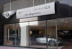 Bentley car showroom in Dubai United Arab Emirates UAE