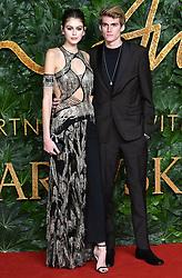 Kaia Gerber, Presley Gerber attending the Fashion Awards in association with Swarovski held at the Royal Albert Hall, Kensington Gore, London