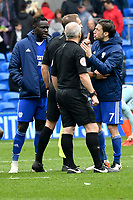 Football - 2018 / 2019 Premier League - Cardiff City vs. Chelsea<br /> <br /> Harry Arter of Cardiff City protests to referee Mr C. Pawsonafter the game , at Cardiff City Stadium.<br /> <br /> COLORSPORT/WINSTON BYNORTH