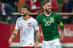 September 11, 2018 - Wroclaw, Poland - Mateusz Klich of Poland and Richard Keogh of Ireland during the International Friendly match between Poland and Republic of Ireland at Wroclaw Stadium in Wroclaw, Poland on September 11, 2018  (Credit Image: © Andrew Surma/NurPhoto/ZUMA Press)