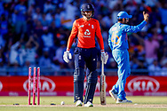 England T20 batsman Joe Root  is out for no score  during the International T20 match between England and India at Old Trafford, Manchester, England on 3 July 2018. Picture by Simon Davies.