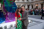 CATHERINE BAILEY; DAVID BAILEY, Royal Academy of Arts Summer Exhibition Preview Party 2011. Royal Academy. Piccadilly. London. 2 June <br /> <br />  , -DO NOT ARCHIVE-© Copyright Photograph by Dafydd Jones. 248 Clapham Rd. London SW9 0PZ. Tel 0207 820 0771. www.dafjones.com.