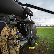 SGT Jacob Ronne, C Company 3-10 GSAB, 10th Mountain Division waits for patients during a Spur Ride hosted by 6-6 Cavalry.