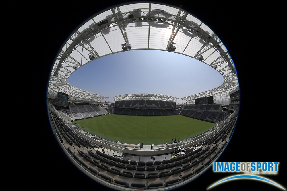 Apr 25, 2018; Los Angeles, CA, USA; General overall view of Banc of California Stadium. The venue is the home of the Los Angeles FC of the MLS and is the first open-air stadium built in the City of Los Angeles since 1962. It is constructed on the site of the former Los Angeles Memorial Sports Arena at Exposition Park next to the Los Angeles Memorial Coliseum.