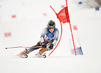 Matt Nolan competes in Giant Slalom Macomber Cup at Dartmouth Skiway January 24, 2010.