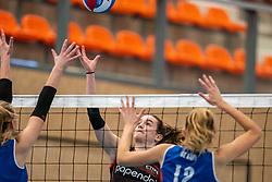 Nicole van de Vosse #3 of Talent Team in action in the first league match in the corona lockdown between Talentteam Papendal vs. Sliedrecht Sport on January 09, 2021 in Ede.