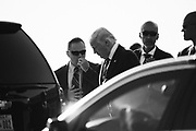 U.S. President Donald Trump, from Air Force One at Fiumicino international airport. Rome 23 May 2017. Christian Mantuano / OneShot