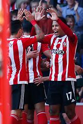 Goal, Southampton's Virgil van Dijk scores, Southampton 1-0 Swansea City - Mandatory by-line: Jason Brown/JMP - 07966 386802 - 26/09/2015 - FOOTBALL - Southampton, St Mary's Stadium - Southampton v Swansea City - Barclays Premier League