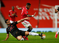 Football - 2020 / 2021 EUFA Europa League - Round of 32 - Second Leg - Manchester United  vs Real Sociedad - Old Trafford<br /> <br /> Fred of Manchester United and Igor Zubelda of Real Sociedad at Old Trafford<br /> <br /> Credit COLORSPORT/LYNNE CAMERON