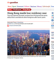 The Guardian, Skyline of Hong Kong