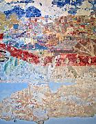 Polichromia na ścianie synagogi w Bobowej.<br /> Polychromy on the wall of the synagogue in Bobowa.
