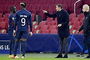 Sory Kaba of FC Midtjylland, coach Brian Priske of FC Midtjylland during the UEFA Champions League, Group D football match between Ajax and Midtjylland on november 25, 2020 at Johan Cruijff Arena in Amsterdam, Netherlands - Photo Gerrit van Keulen / Orange Pictures / ProSportsImages / DPPI