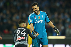 December 1, 2017 - Naples, Italy - Lorenzo Insigne of Napoli and Gianluigi Buffon of Juventus  during the Serie A match between SSC Napoli and Juventus at Stadio San Paolo on December 1, 2017 in Naples, Italy. (Credit Image: © Matteo Ciambelli/NurPhoto via ZUMA Press)