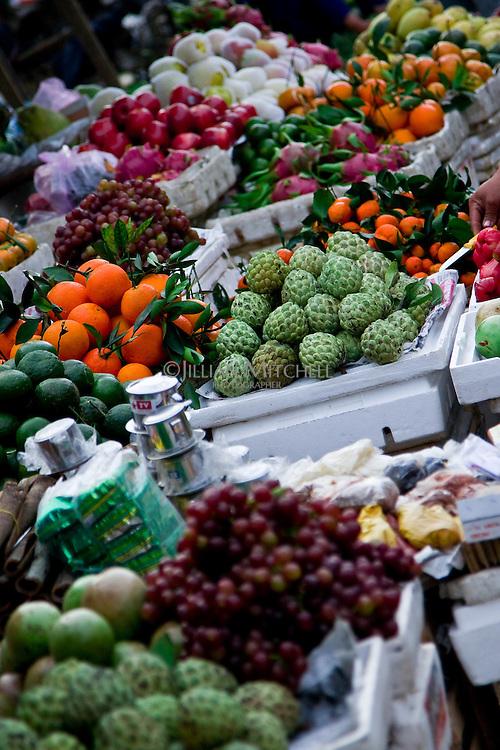 Fresh fruit for sale in a Hoi An street market.