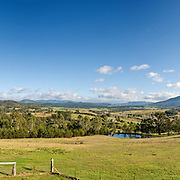 Farm in Towamba in rural New South Wales, Australia. Panorama.