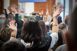 18 November 2018, Bogotá, Colombia: The church of San Lucas ('Saint Lucas') of the Evangelical Lutheran Church of Colombia, brings together a congregation of some 100 people in the southern areas of Bogotá. Located in the Kennedy area, the church has recently celebrated 50 years. As part of its ministry, the church runs a school and college, The Colegio Evangelico Luterano de Colombia (CELCO) San Lucas, offering education to just over 1,000 students aged 3-18. The school started as a social initiative offering care for children aged 0-4 in Bogotá's less wealthy neighbourhood, allowing the parents opportunities to go to work. 36 years after its foundation, the school employs 56 staff, of which 36 are teachers.