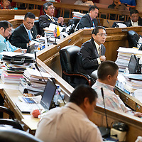 071713       Brian Leddy<br /> The Navajo Nation Council discusses legislation relating to the renewal of the Navajo Generating Station lease on Wednesday.