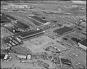 "Ackroyd 12362-1 ""Garrett Freight Lines. Aerial of terminal. March 23, 1964"""