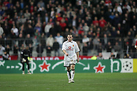 Photo: Lee Earle.<br /> Lille v Manchester Utd. UEFA Champions League.<br /> 02/11/2005. United's Wayne Rooney looks dejected after losing to Lille.