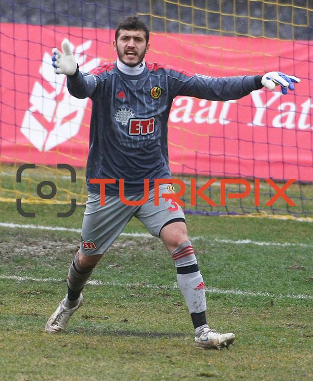 Eskisehirspor's goalkeeper Kayacan Erdogan during their Turkey Cup matchday 3 soccer match Eyupspor between Eskisehirspor at Eyup Stadium in Istanbul Turkey on Wednesday, 11 January 2012. Photo by TURKPIX