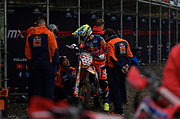 Antonio Cairoli came into Matterley Basin with a shoulder injury which was not revealed until the post-race press conference.