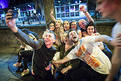 """© Licensed to London News Pictures . 16/11/2015 . Manchester , UK . Annual student pub crawl """" Carnage """" at Manchester's Deansgate Locks nightclubs venue . The event sees students visit several clubs over the course of an evening . This year's theme is """" Animal Instinct - unleash your beast """" . Photo credit : Joel Goodman/LNP"""
