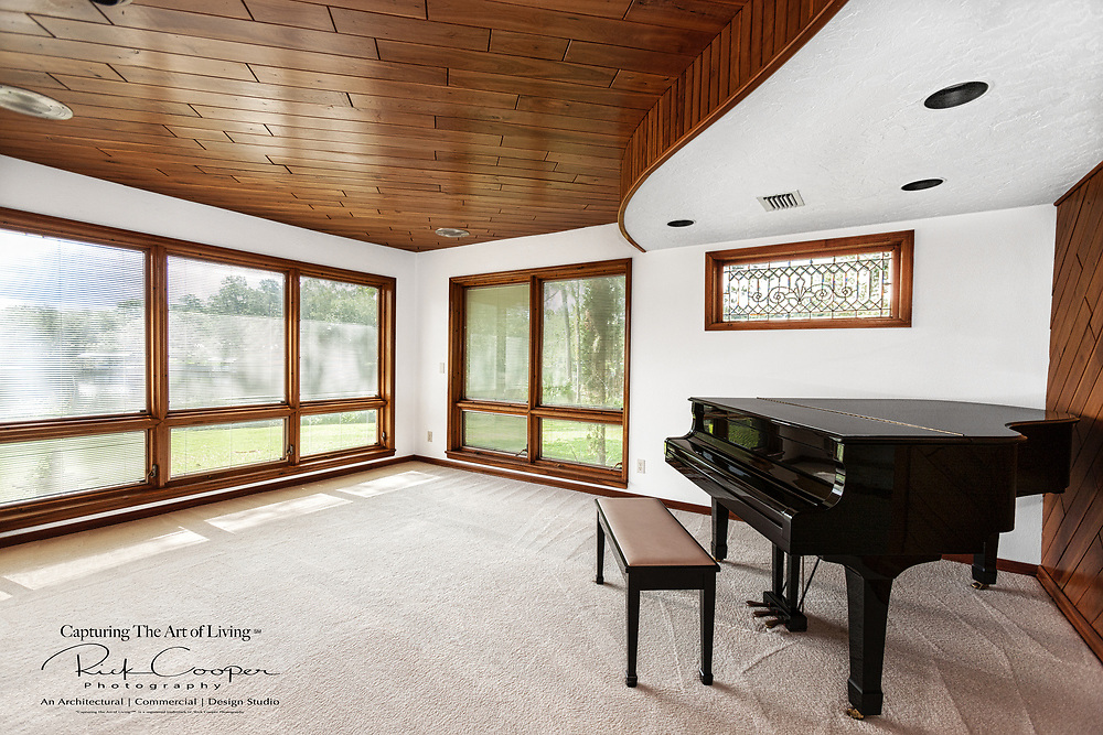 Residential Music Room With Grand Piano