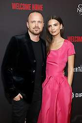 Aaron Paul and Emily Ratajkowski at the Los Angeles premiere of 'Welcome Home' held at the London Hotel in West Hollywood, USA on November 4, 2018.
