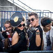 I fans di Lady Gaga al concerto di Milano al Forum di Assago, unica data italiana.<br /> <br /> Lady Gaga fans at the Assago Forum for the only italian concert of the american singer.