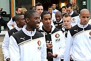 Feyenoord-selectie  krijgt maandag in Amersfoort een militaire training. Op uitnodiging van de Koninklijke Landmacht is de A-selectie een dag te gast op de Bernhardkazerne.<br /> <br /> Op de foto: De Selectie van Feyenoord