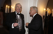 William Brake and Frank Brake. The Leader's Dinner ( Michael Howard's ) Banqueting House. Whitehall. London.  November 2005. ONE TIME USE ONLY - DO NOT ARCHIVE  © Copyright Photograph by Dafydd Jones 66 Stockwell Park Rd. London SW9 0DA Tel 020 7733 0108 www.dafjones.com