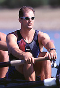 © 2000 All Rights Reserved - Peter Spurrier Sports Photo. .Tel 44 (0) 1784-440 771  .Mobile 44 (0) 973 819 551.email pictures@rowingpics.com.Sydney Olympics 2000 - Penrith Lakes, NSW..USA M8+ Robert Kaehler (No 2) .......... 2000 Olympic Regatta Sydney International Regatta Centre (SIRC) 2000 Olympic Rowing Regatta00085138.tif