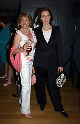 Left to right, ESTHER RANTZEN and Fashion designer CATHERINE WALKER at a party to celebrate the UK launch of Diana:The Portrait, the authorised book about the late Princess Of Wales's life and work, held at the National Portrait Gallery, London on 1st September 2004.  The book was commissioned by The Diana, Princess of Wales Memorial Fund and writen by Ros Coward.