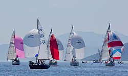 Sailing - SCOTLAND  - 25th-28th May 2018<br /> <br /> The Scottish Series 2018, organised by the  Clyde Cruising Club, <br /> <br /> First days racing on Loch Fyne.<br /> <br /> One design fleet with GBR8173N, Kalm, Steven Lyon, Cove, Sonata OD<br /> <br /> Credit : Marc Turner<br /> <br /> <br /> Event is supported by Helly Hansen, Luddon, Silvers Marine, Tunnocks, Hempel and Argyll & Bute Council along with Bowmore, The Botanist and The Botanist