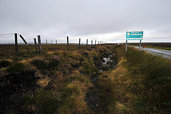 Licensed to London News Pictures 17/08/2012..Today picture of Saddleworth Moor on the A635, an area searched recently. Moors Murderer Ian Brady has revealed information about where one of his victims, 12-year-old Keith Bennett, is buried, Police believe. A woman has been arrested in south Wales on suspicion of preventing a lawful burial of a body. Brady and Myra Hindley murdered five children between 1963 and 1965 and Keith's is the only body never found. They kidnapped, tortured and murdered the children, whose bodies were buried on Saddleworth Moor in the Oldham/Manchester area....Photo Credit Julian Brown/LNP