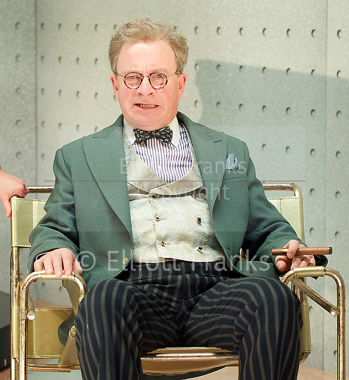Once in a Lifetime <br /> by Moss Hart & George S. Kaufman <br /> adapted by Christopher Hart <br /> directed by Richard Jones <br /> at Young Vic Theatre, London, Great Britain <br /> Press photocall <br /> 5th December 2016 <br /> <br /> Harry Enfield as Glohauer <br /> <br /> <br /> <br /> <br /> Photograph by Elliott Franks <br /> Image licensed to Elliott Franks Photography Services