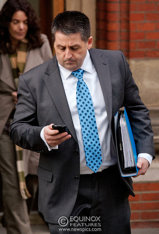 London, United Kingdom - 28 November 2011.Former British Army intelligence office Ian Hurst who went by the alias Martin Ingram. Witnesses arrive for hearings for the Leveson Inquiry into allegations of phone hacking by the media. Royal Courts of Justice, Charing Cross, London, England, UK..Copyright: ©2011 Equinox Licensing Ltd. +448700 780000 - Contact: Equinox Features - Date Taken: 20111128 - Time Taken: 122529+0000 - www.newspics.com