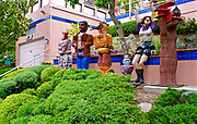 Sculpture art, Kensington, California, garden art, models, cultures,