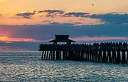 Naples Pier at sunset, Naples, Florida, USA.